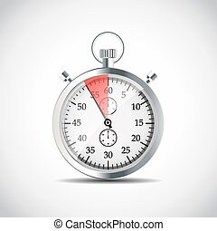 Realistic Stopwatch Vector Illustraion EPS10