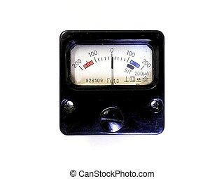 electro, magnético, análogo, medición, device.,