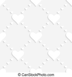 Heart Background - 3d Abstract Vector Heart Background
