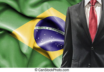 Man in suit from Brazil