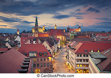Nuremberg - Image of historic downtown of Nuremberg, Germany...