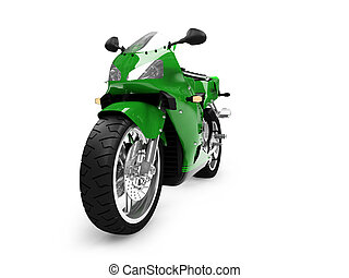 isolated motorcycle front view 04 - isolated motorcycle on a...