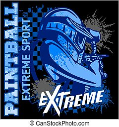 Paintball Team - extreme sport - Paintball Team - vector...