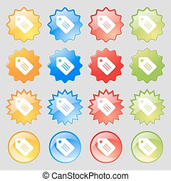 Special offer label icon sign. Big set of 16 colorful modern buttons for your design. Vector