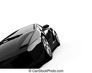 isolated closeup sportcar view