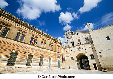 Church of Saint John the Evangelist in the center of Lecce, Pugl
