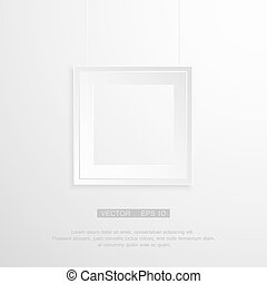 Empty frame on the wall