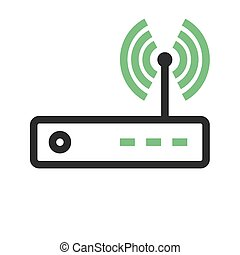 Router, modem hardware, connection icon vector image. Can...