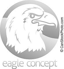 Eagle head circle design
