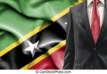 Man in suit from St Kitts and Nevis