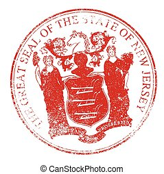 New Jersey Seal Rubber Stamp