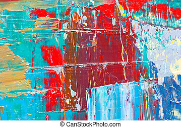 Abstract art background Hand-painted background