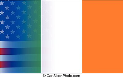Irish Flag Stars and Stripes - An American flag, the Stars...