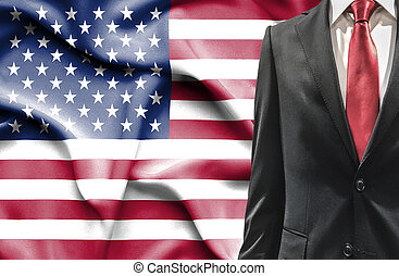 Man in suit from United States of America