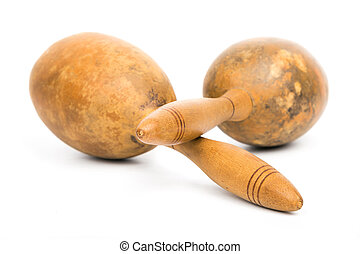 Cuban maracas, traditional musical instrument for rhythmic...