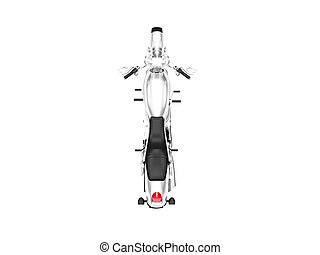 isolated motorcycle top view - isolated motorcycle on a...