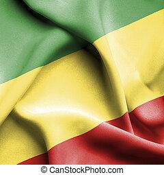 Congo Republic waving flag