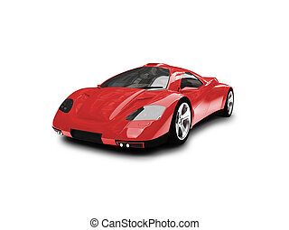 isolated red super car front view 01 - red super car on a...