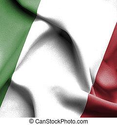 Italy waving flag