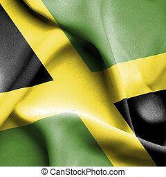 jamaica, ondulación, bandera,