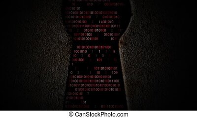 Computer binary code through the keyhole