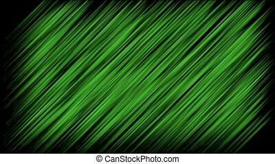 Abstract green stripes on the dark background