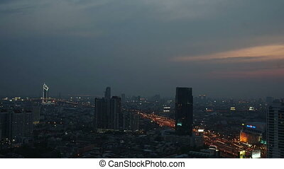 Time lapse Bangkok skyline sunset - BANGKOK, Thailand -...
