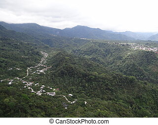 Air view of small towns in Mexico - An air view of small...