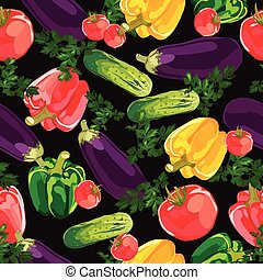 Vegetable seamless vector background