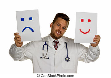 laugh or cry - a doctor can not decide whether to laugh or...