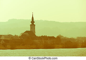 austria, lower austria, village church - a small church next...