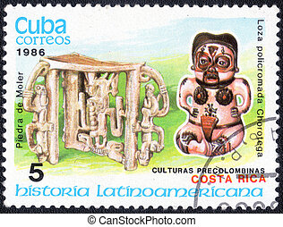 postage stamp - CUBA - CIRCA 1986: postage stamp shows a...