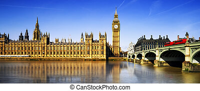 London city - Big Ben and Houses of Parliament, London, UK
