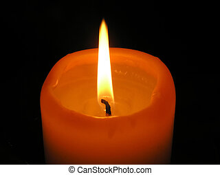 Burning candle. - The high flame is formed as a result of...