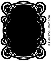 Vector black frame with elegant border