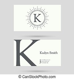 Trendy business card template. - Trendy business card...