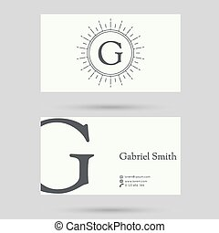 Trendy business card template - Trendy business card...
