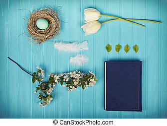 A collection of spring items