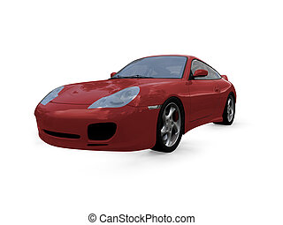 isolated red super car front view 01 - isolated red supercar...