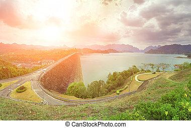 asphalt highway in Thailand - asphalt highway in jungle with...