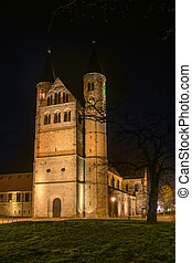 Monastery Magdeburg - Image of the illuminated Monastery Our...