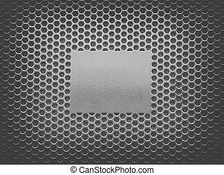 Metal texture plate on steel mesh