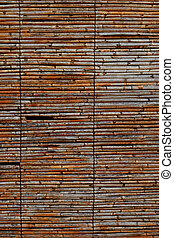 Background texture of a rustic bamboo screen