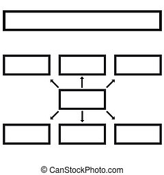 Multilevel - New business structure on a white background