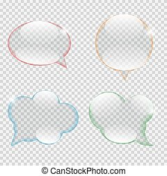 Glass Transparency Speech Bubble Vector Illustration EPS10