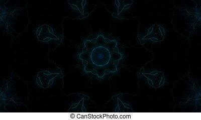Light kaleidoscope - Blue Light kaleidoscope on the black...