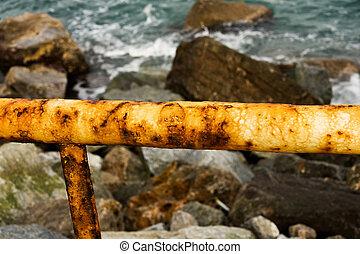 Rusty banister