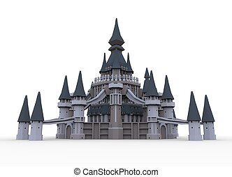 Castle - Clip-art castle isolated on the white background