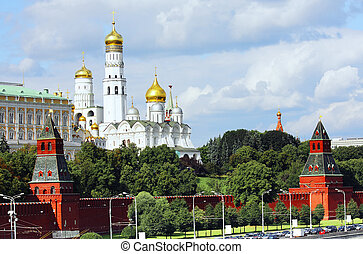 Behind Kremlin walls - Buildings behind Moscow Kremlin walls...
