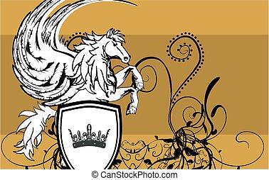 heraldic pegasus coat of arms5